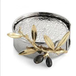 Michael Aram Olive Branch Gold Coaster Set of 6